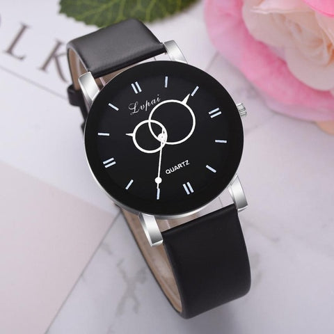 Quartz Leather Wristwatch