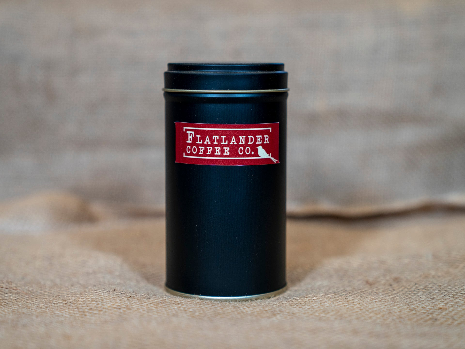 Flatlander Coffee Tin