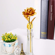 Load image into Gallery viewer, 24K Gold Rose Flower