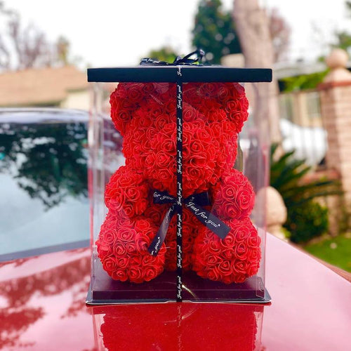 Rose By Bear™️ Timeless Rose Bear w/ Display Gift Box