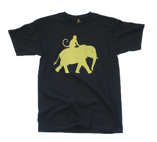Black and Gold Elemonkey Tee