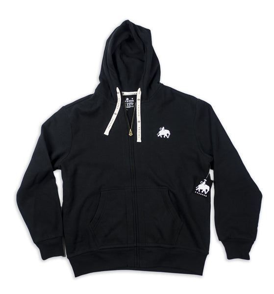 Black Logo Zip Up