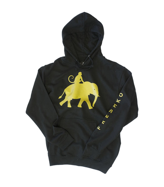 Black and Gold Lightweight Hoodie