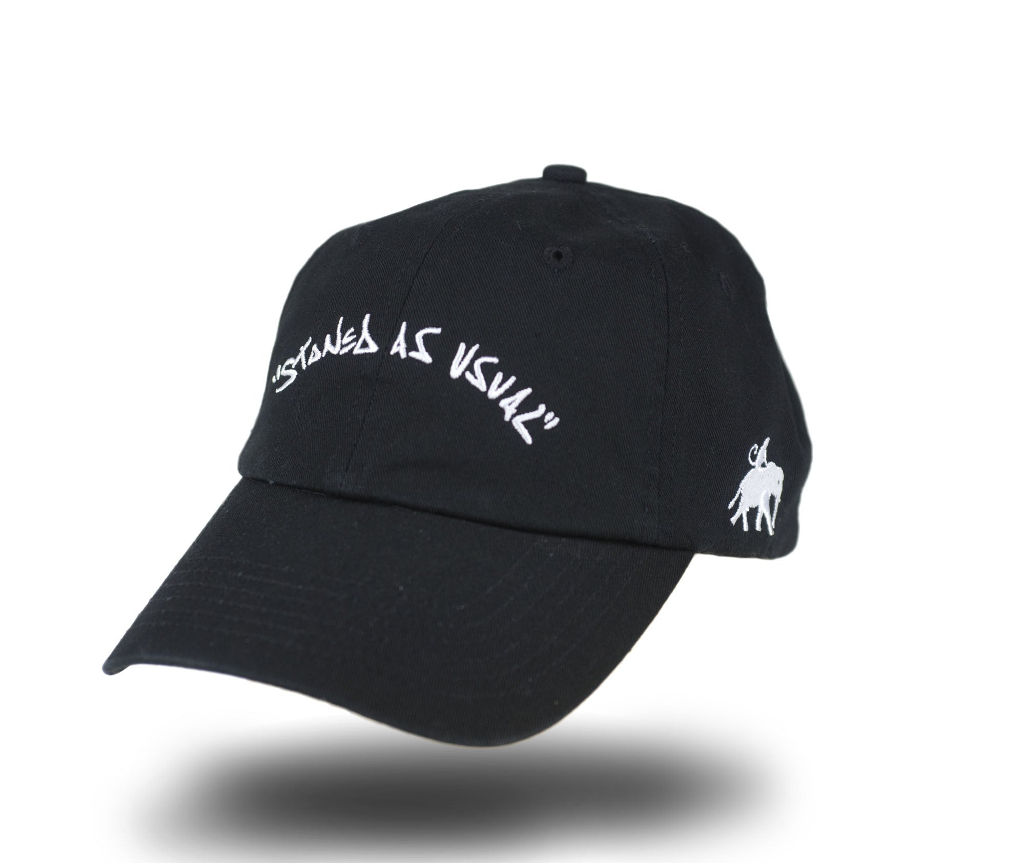 Stoned As Usual Dad Cap - Black