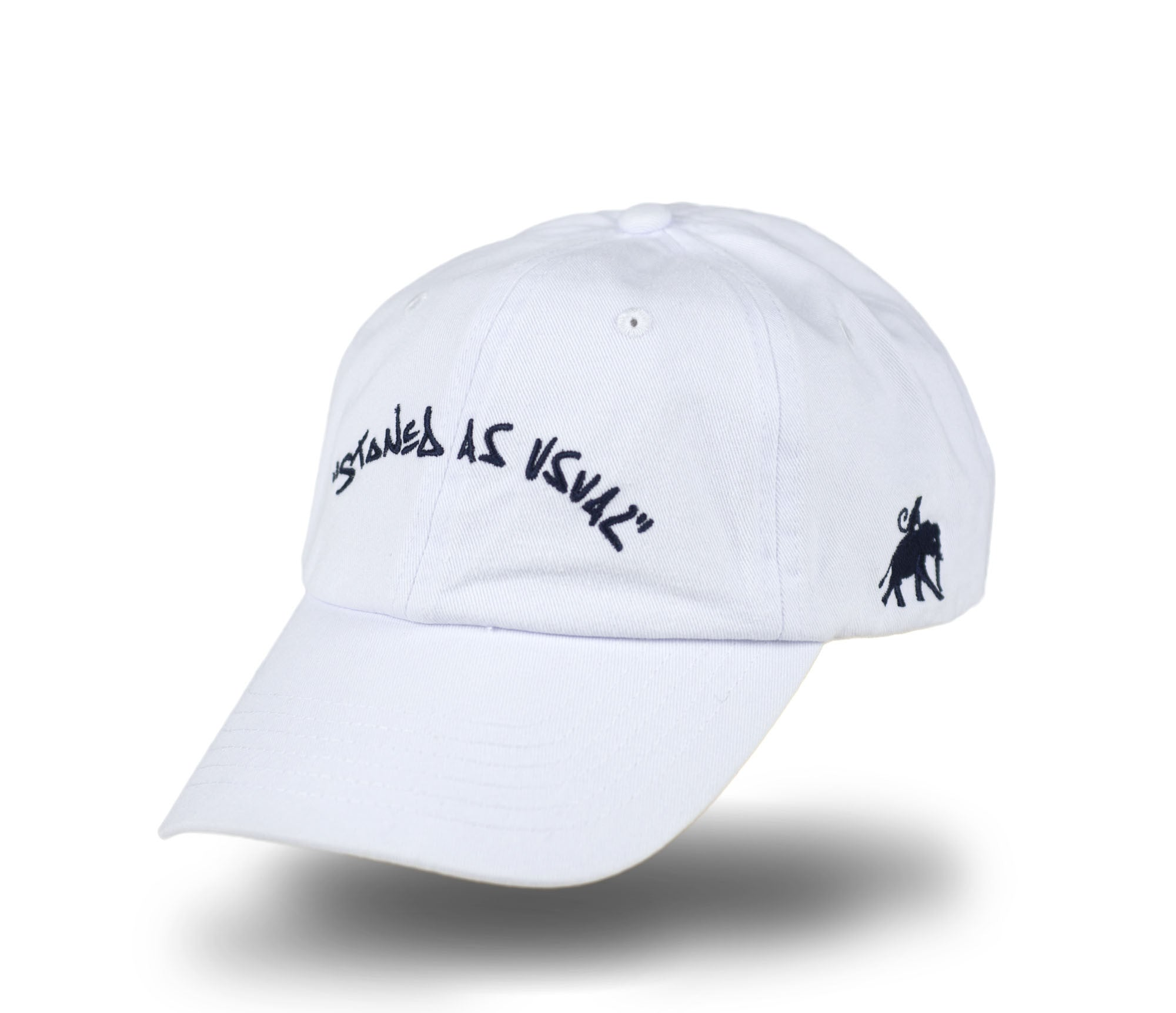 Stoned As Usual Dad Cap - White