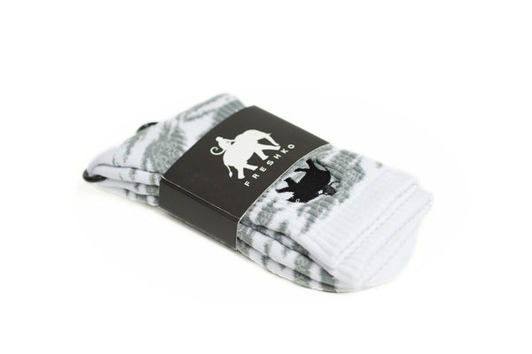 White Elemonkey Socks