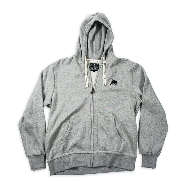 Gray Logo Zip Up