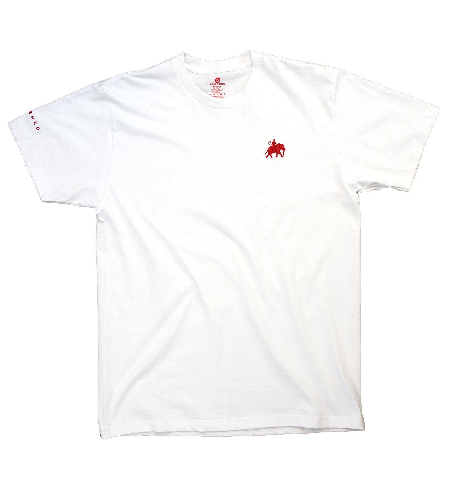 White Embroidered Tee