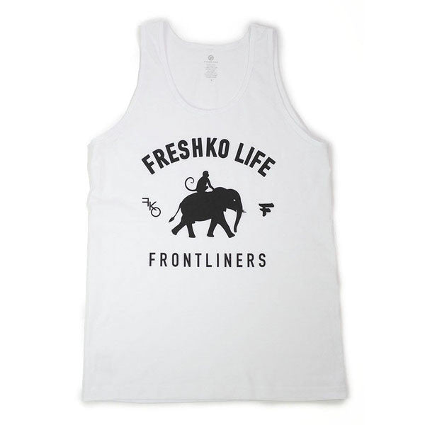 White Frontliners Tank