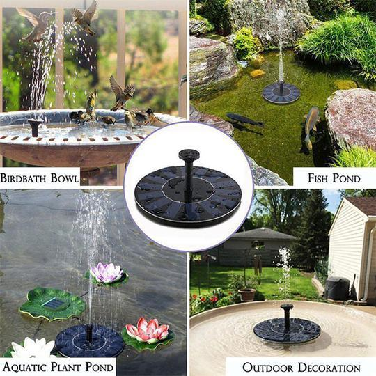 Solar Powered Floating Bath Fountain Pump