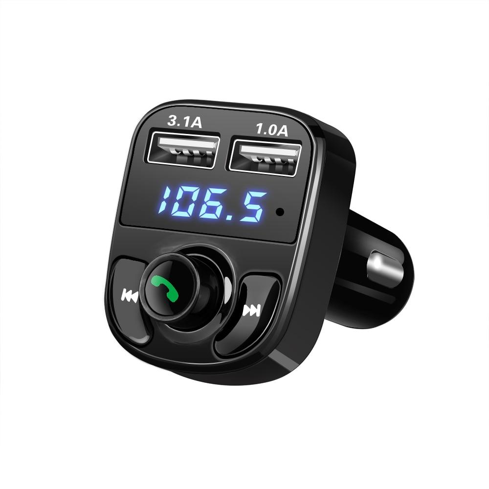 FM Transmitter/Bluetooth Handsfree Car Kit/Car Audio MP3 Player/3.1A Quick Charge Dual USB Car Charger