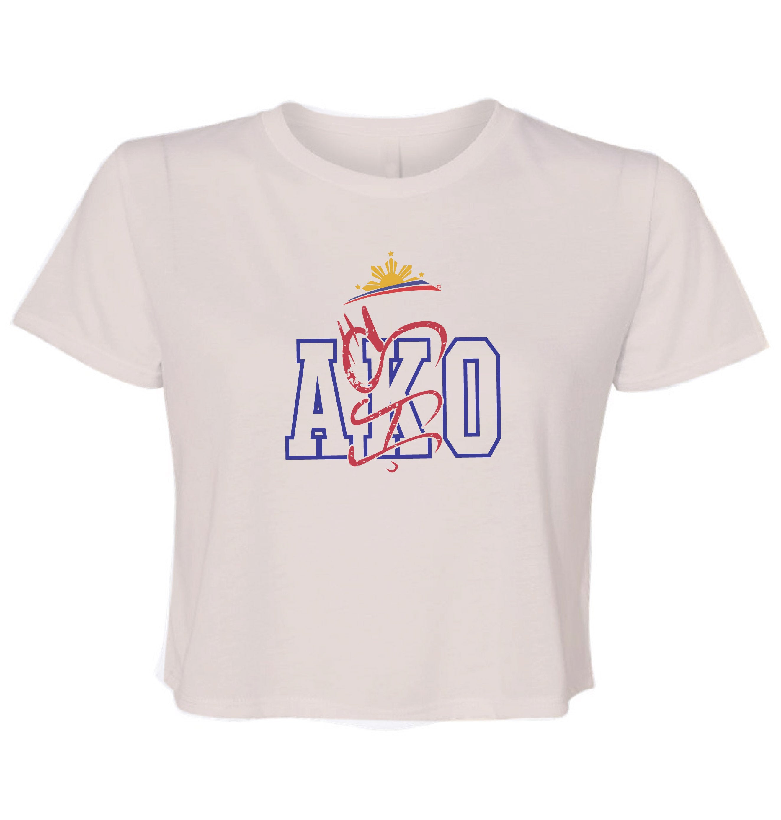 Filipino Ladies Cropped Shirt - AKO by Pinoy Rising