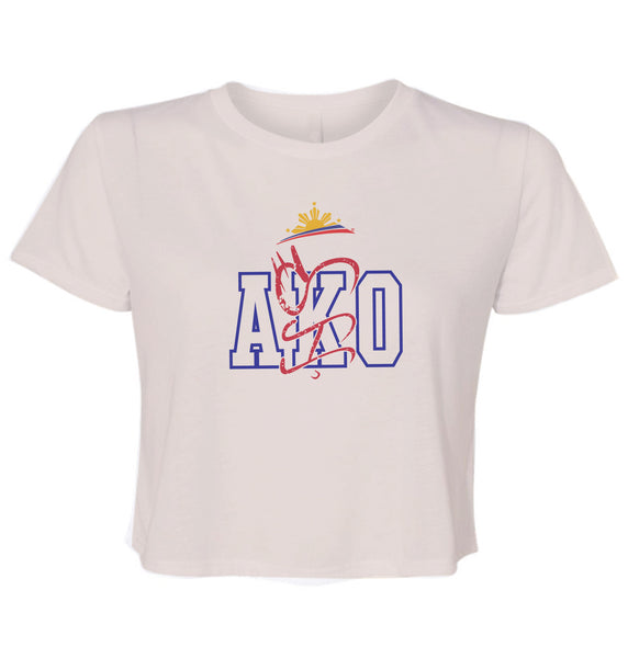 Filipino Ladies Cropped Shirt - AKO by Pinoy Rising - Summer