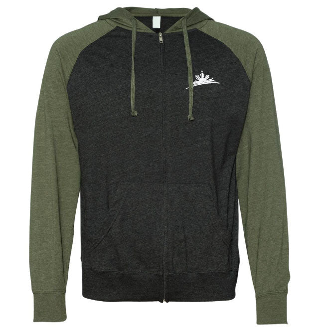 Zip-Up Two-Tone Hoodie - Men
