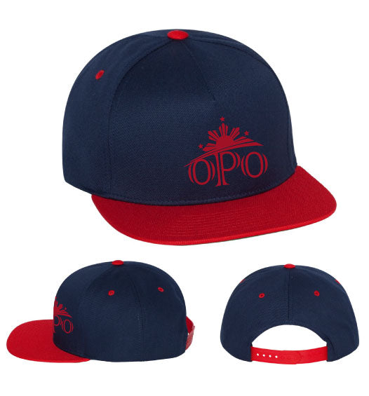 "Flat Bill Snapback Youth Hat ""OPO"""