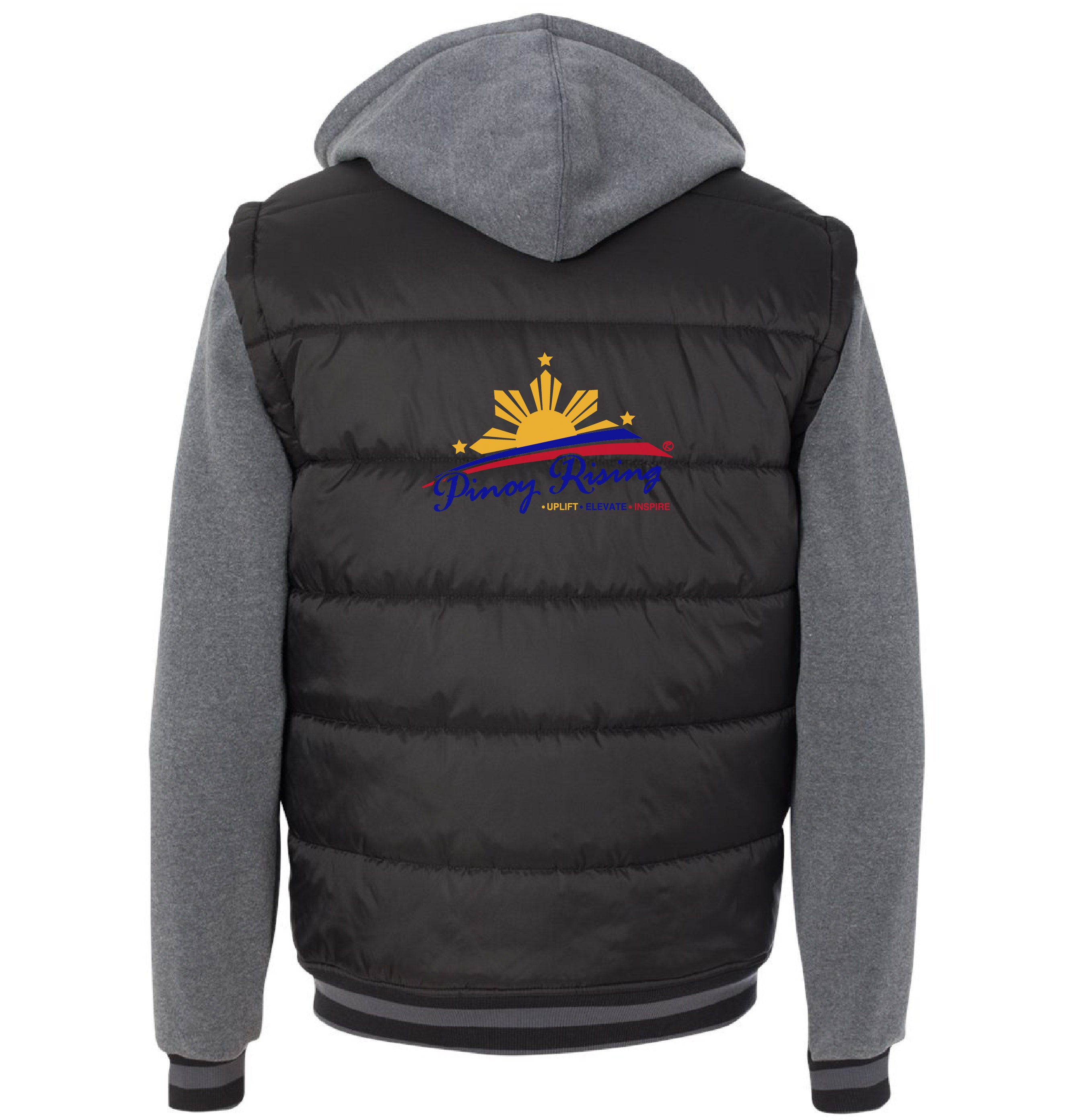 Filipino Jacket Puff Vest with Fleece Sleeves