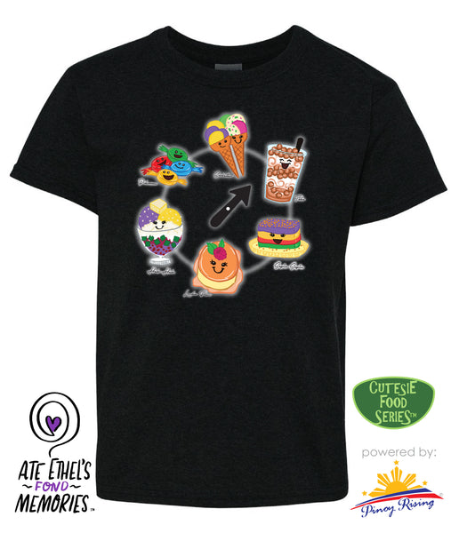Food O'Clock - Youth - Cutesie Food Shirt by Pinoy Rising