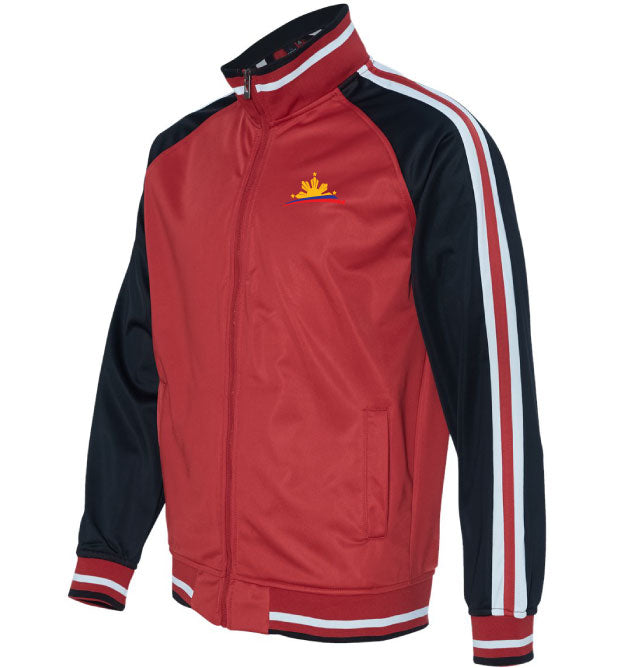Striped Sleeve Track Jacket - Men
