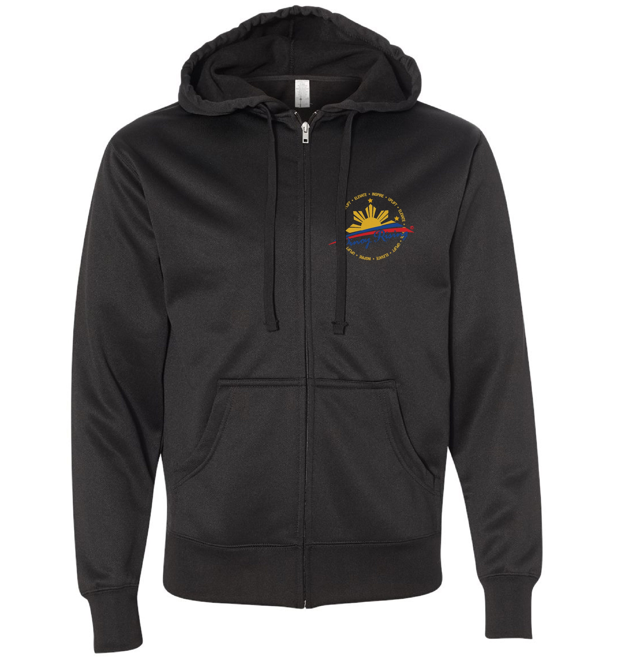 Filipino Poly-Tech Hooded Full-Zip Sweatshirt