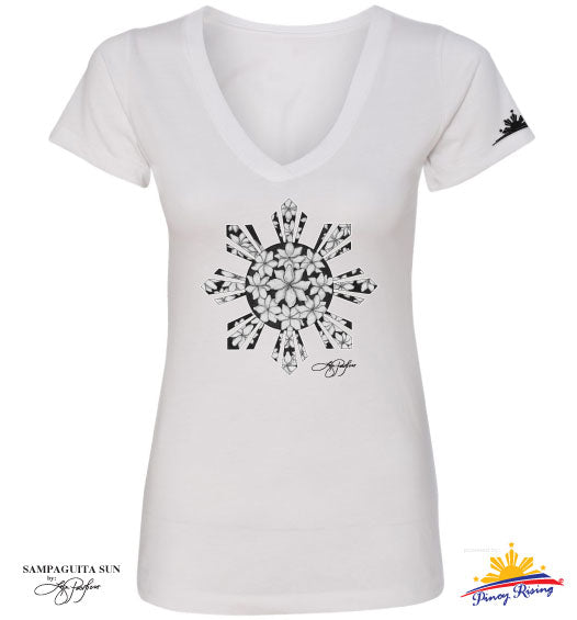 Sampaguita Sun V-Neck Shirt - Women