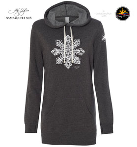 Filipino Hooded Dress Sweatshirt Sampaguita Sun - Women