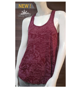 """Movement"" Pleated Racerback Tank Top - Women"