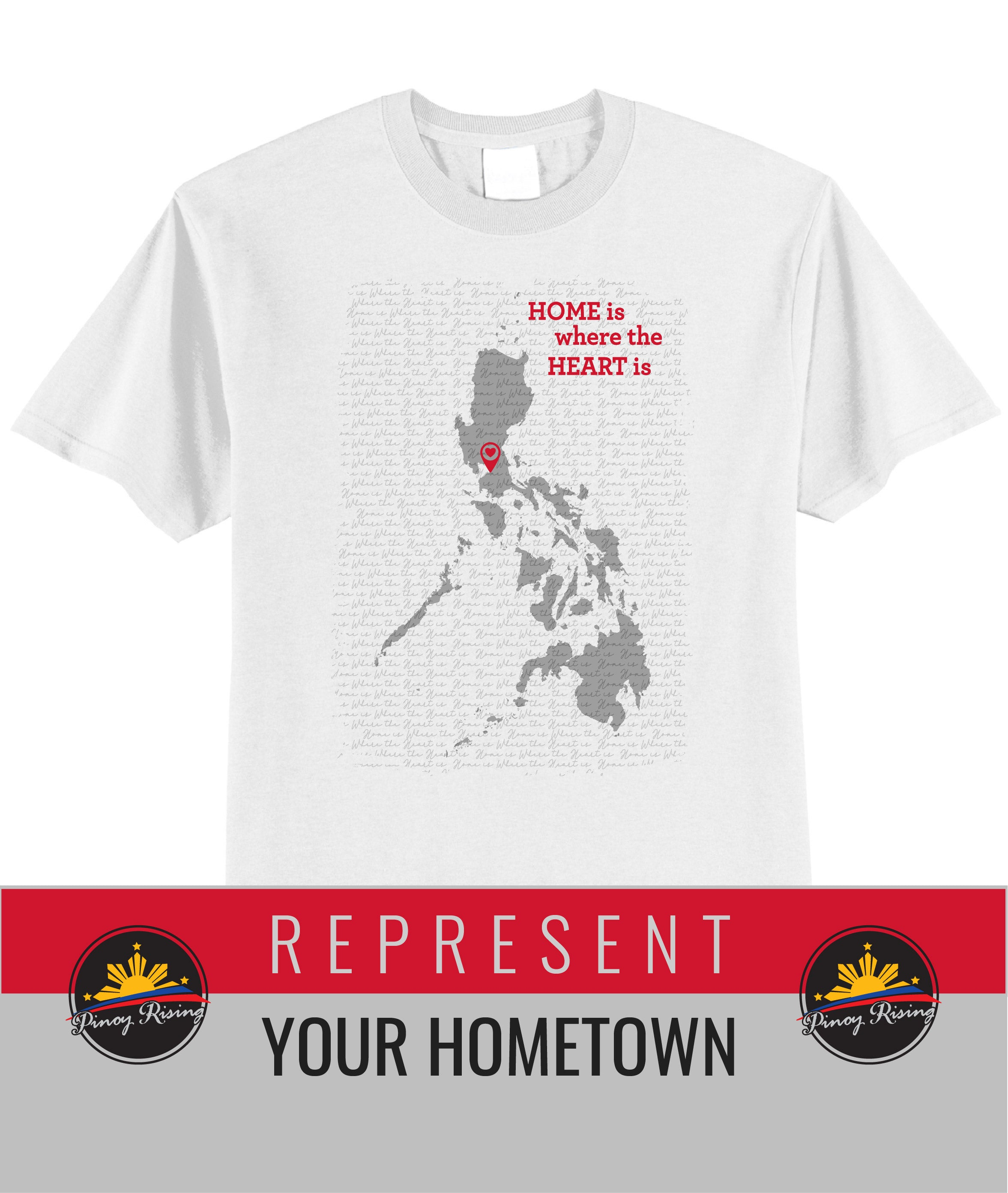 Philippines Shirt - Home Is Where The Heart Is (NEW!)