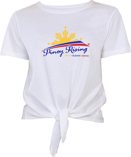 Filipino Tie Front Tee - Women