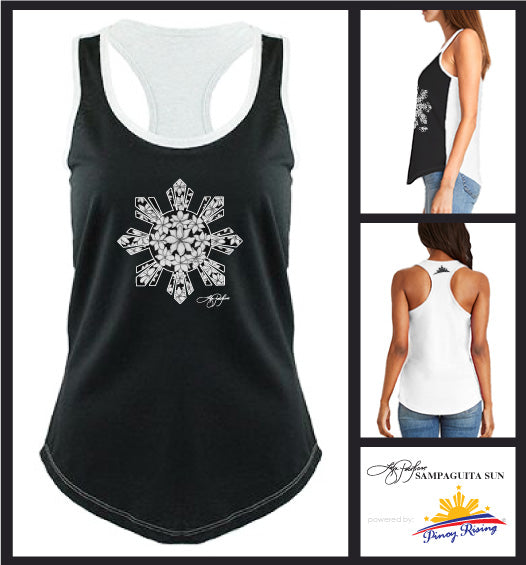 Sampaguita Sun Two-Tone Racerback Tank - Women
