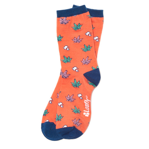 Leafly Unisex Patterned Sock - Leafly Store
