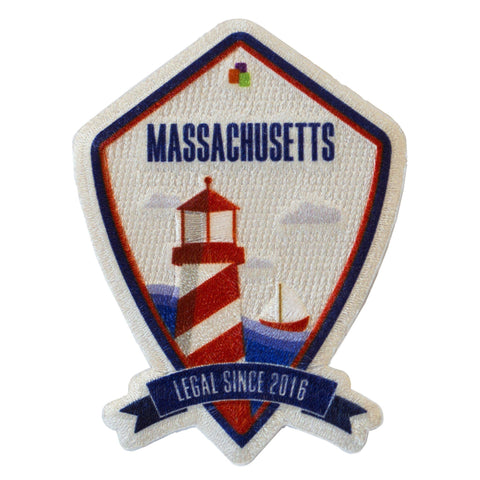 Massachusetts Legalization Commemoration Iron-On Patch - Leafly Store