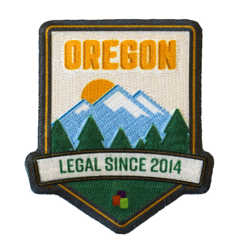 Oregon Legalization Commemoration Iron-On Patch