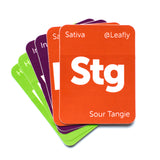 Leafly Mixed Strain Tile Stickers - 15 Pack - Leafly Store