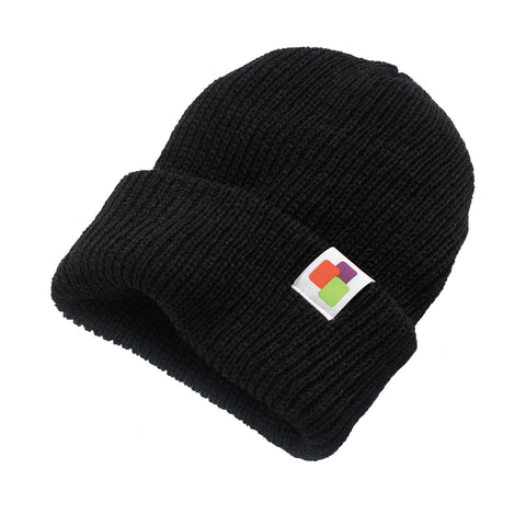 Leafly Unisex Black Slouchy Beanies