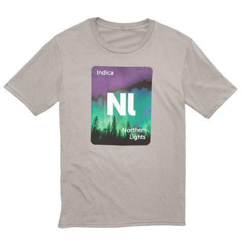 Leafly Unisex Light Grey Northern Lights Strain Graphic T-Shirt - Leafly Store