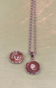 Simple Round Snap Necklace.  Holds 18 or 20mm Snap.
