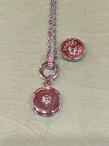 Double Circle Snap Pendant Necklace.  Holds 18 or 20mm Snaps