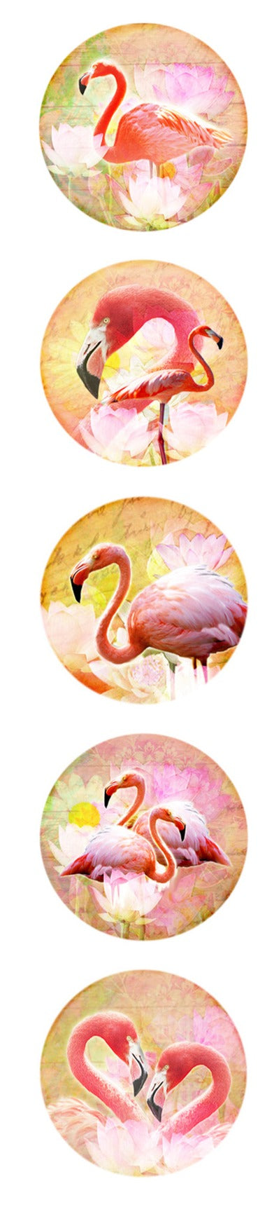 Pink Flamingo Snaps. 20MM