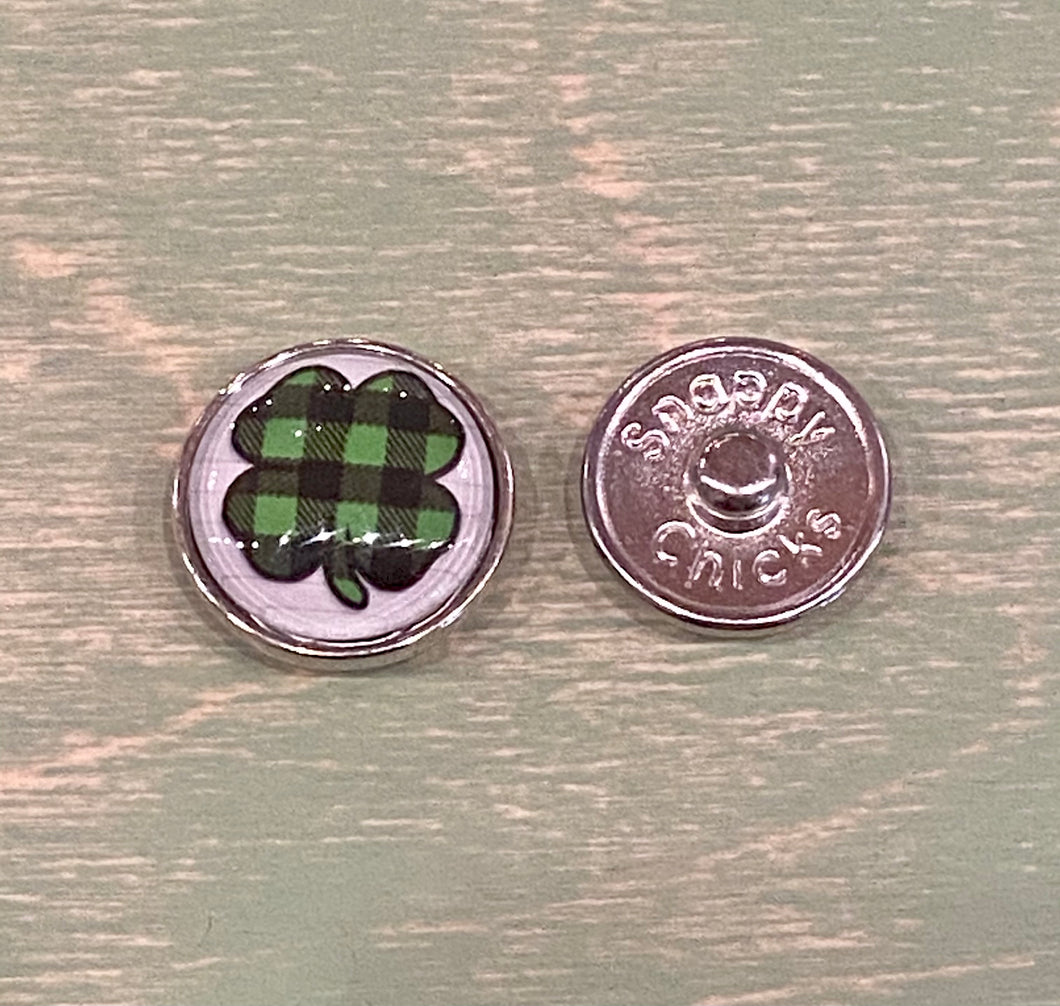 Plaid Clover.  20mm