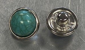 Turquoise Stone 12mm Snap