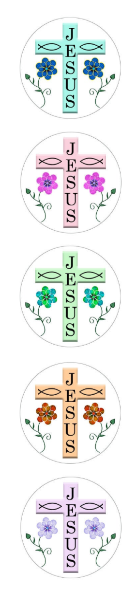 Jesus Cross Snap.  20mm