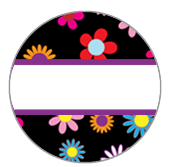 Editable Floral 20mm Snap
