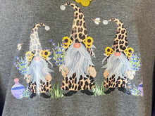 Load image into Gallery viewer, Spring Gnome Tee with Cheetah, Sunflowers & Bees