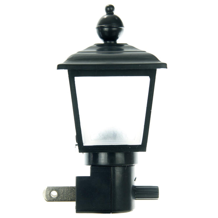 Sunlite E154 Black/Clear Lamp Post Decorative Night Light