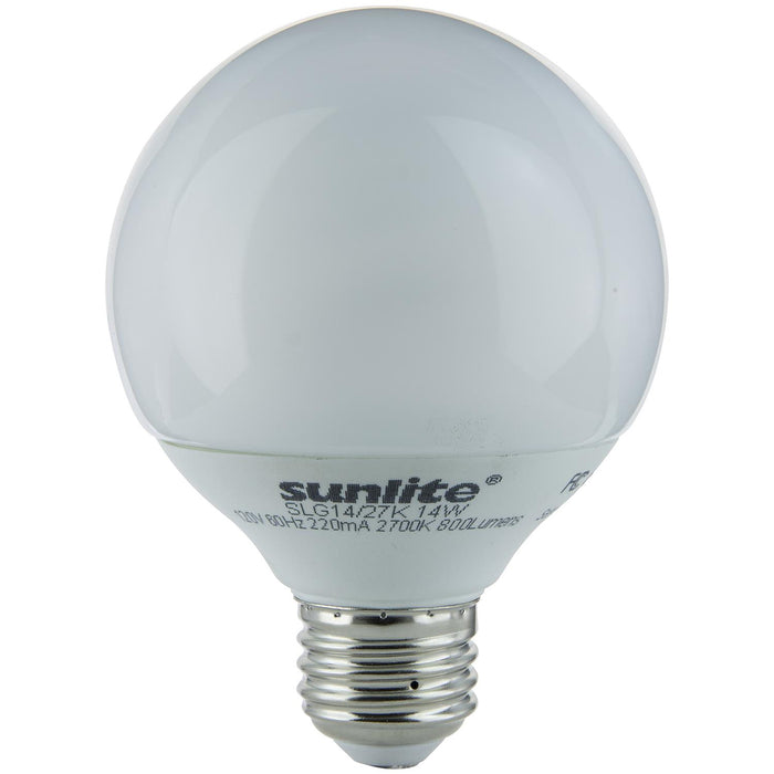 Sunlite 14 Watt Globe, Medium Base, Warm White