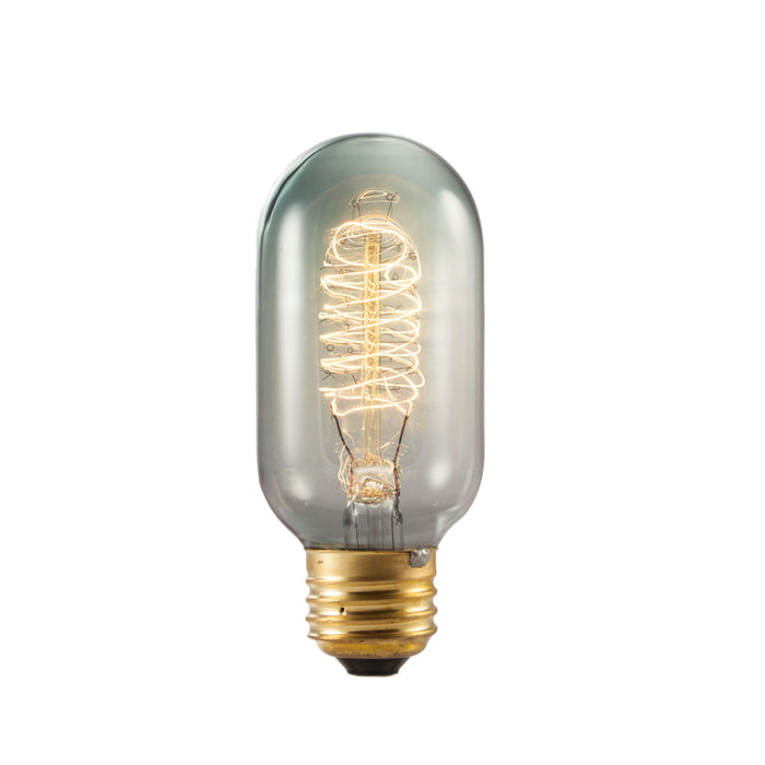 Bulbrite NOS40T14/SMK 40 Watt Nostalgic Edison T14 Bulb, Vintage Spiral Filament, Medium Base, Smoke Finish