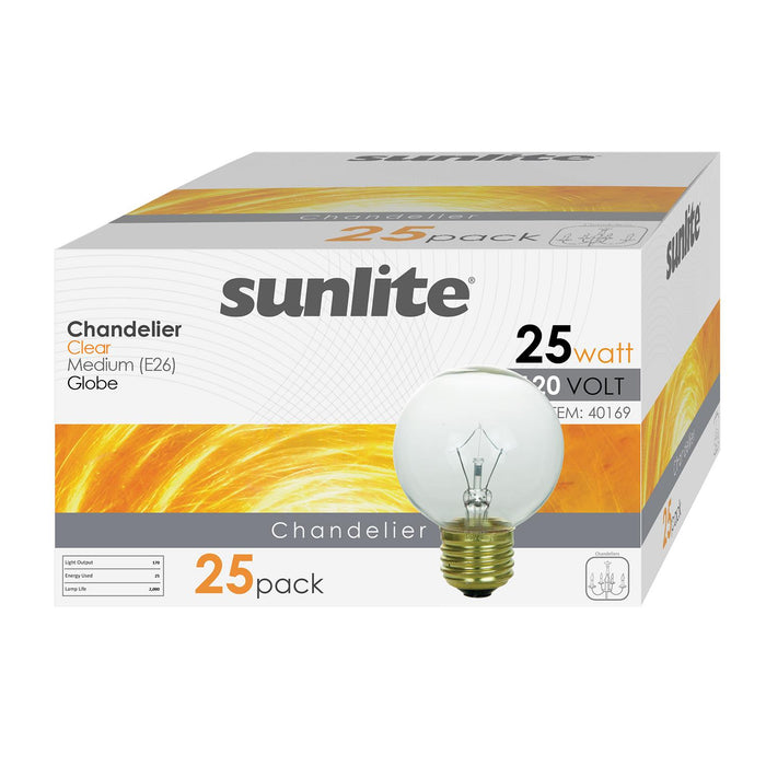 Sunlite 25G19/CL 25 Watt G19 Lamp Medium (E26) Base Clear White
