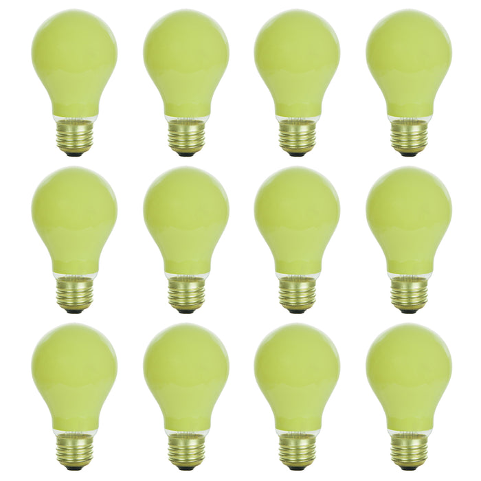 Sunlite 40 Watt A19 Colored, Medium Base, Ceramic Yellow