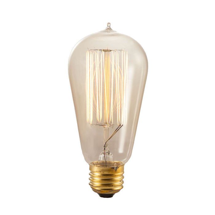Bulbrite NOS60-1910 60 Watt Incandescent Nostalgic 1910 Thread A19, Medium Base, Antique Finish