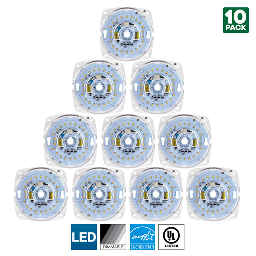 Sunlite LED Retrofit Light Engine, 4-Inch, 5000K Super White, 17 Watt, Dimmable, Flush Ceiling Fixture LED Upgrade Panel, Energy Star Compliant, Commercial Grade, 90 CRI